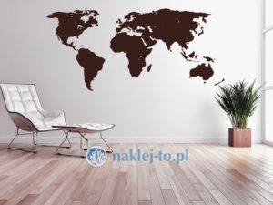 Dekoracja na ścianę - mapa świata