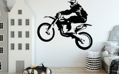 Naklejka na ścianę motocross, motor, rajdy motorowe