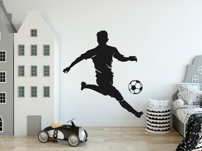 Naklejka piłkarz na ścianę